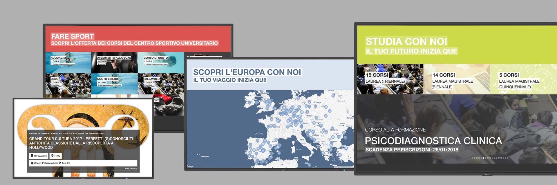 Digital Signage Università degli Studi di Urbino - Xibo